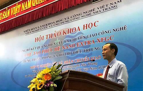 TS. Hà Quý Quỳnh - Trưởng Ban Ứng dụng và Triển khai công nghệ VAST phát biểu tại hội thảo