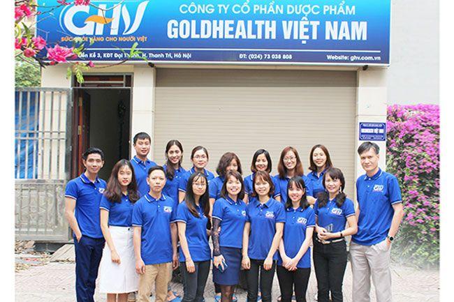 Đội ngũ cán bộ nhân viên Dược phẩm GOLDHEALTH Việt Nam luôn đoàn kết vững mạnh