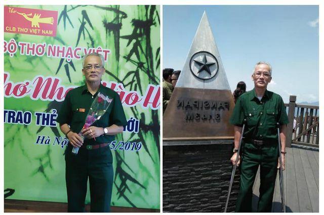 Ông Chương chụp ảnh tại CLB Thơ và Đỉnh Fanxipan tháng 5.2019