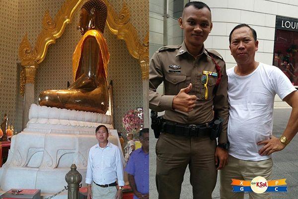 Hình ảnh anh Chín bên Thái Lan