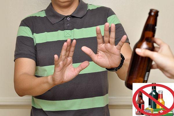 Không su dụng các loại ruou bia