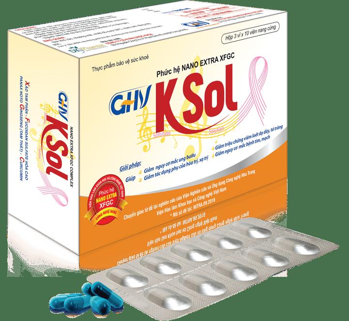 GHV KSol - Sản phẩm chứa phức hệ Nano Extra XFGC