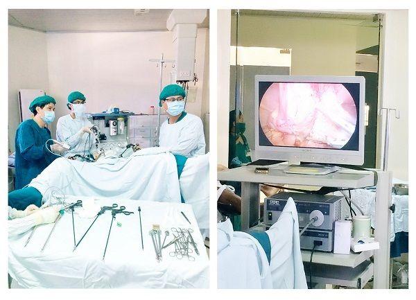 Phẫu thuật nội soi cắt bỏ khối u ở bệnh nhân ung thư đại tràng