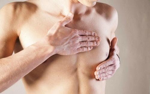 Dấu hiệu ung thư vú ở nam giới là xuất hiện các triệu chứng bất thường ở núm vú, lõm da…